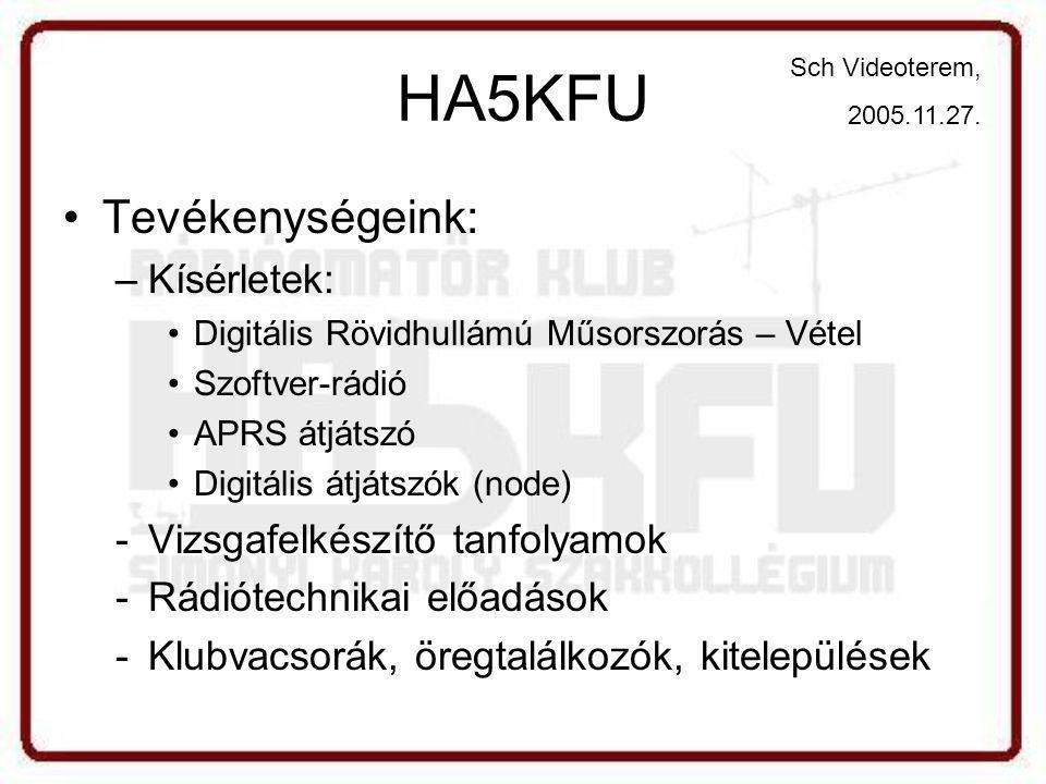 HA5KFU Tevékenységeink: Kísérletek: Vizsgafelkészítő tanfolyamok