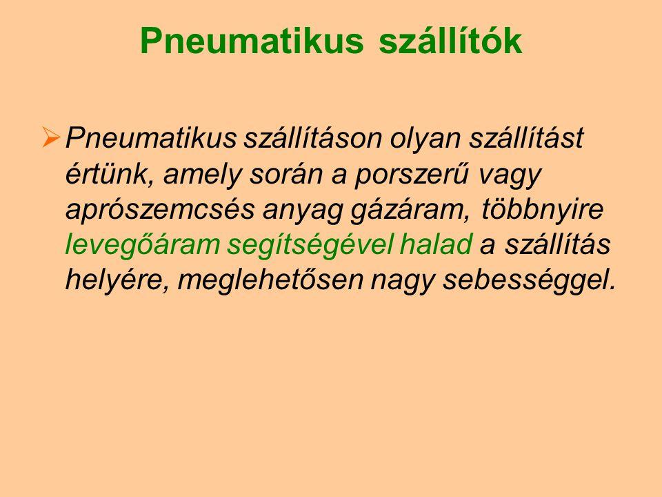 Pneumatikus szállítók