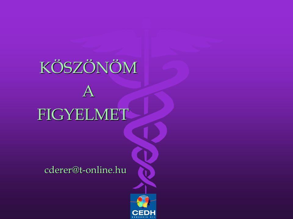 KÖSZÖNÖM A FIGYELMET cderer@t-online.hu