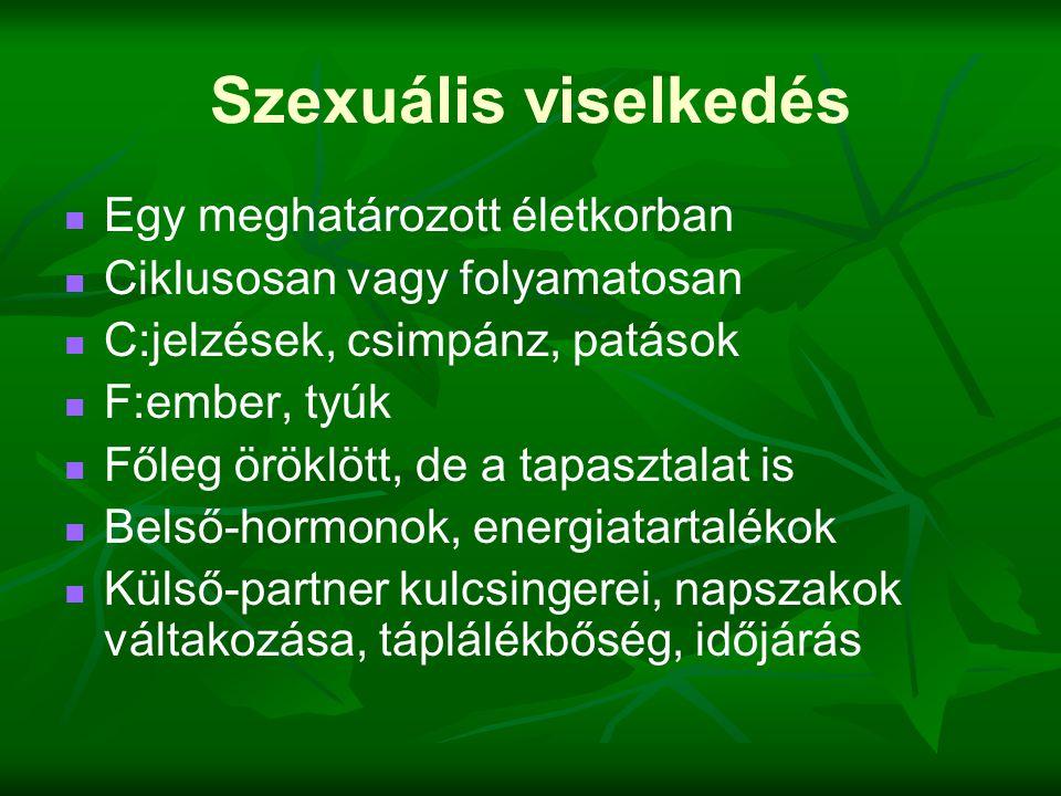 Szexuális viselkedés Egy meghatározott életkorban