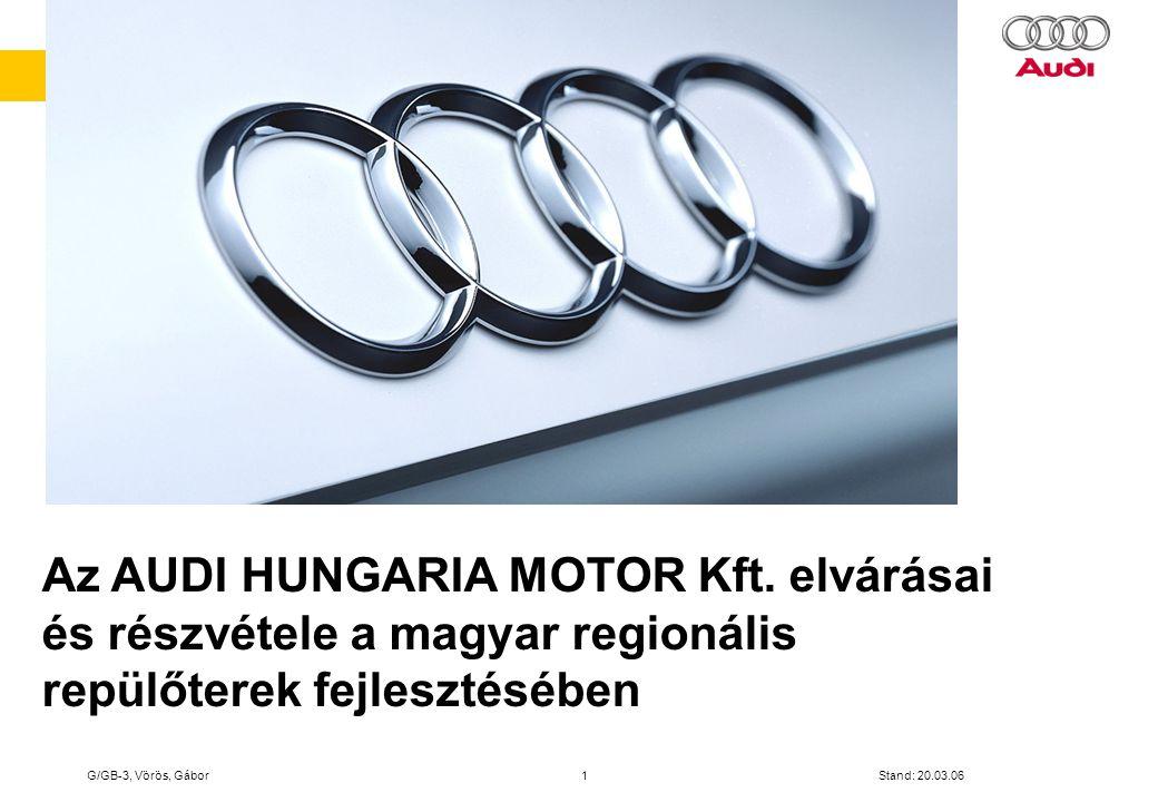 Az AUDI HUNGARIA MOTOR Kft