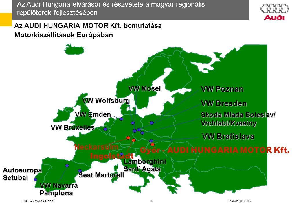 Győr - AUDI HUNGARIA MOTOR Kft. Ingolstadt