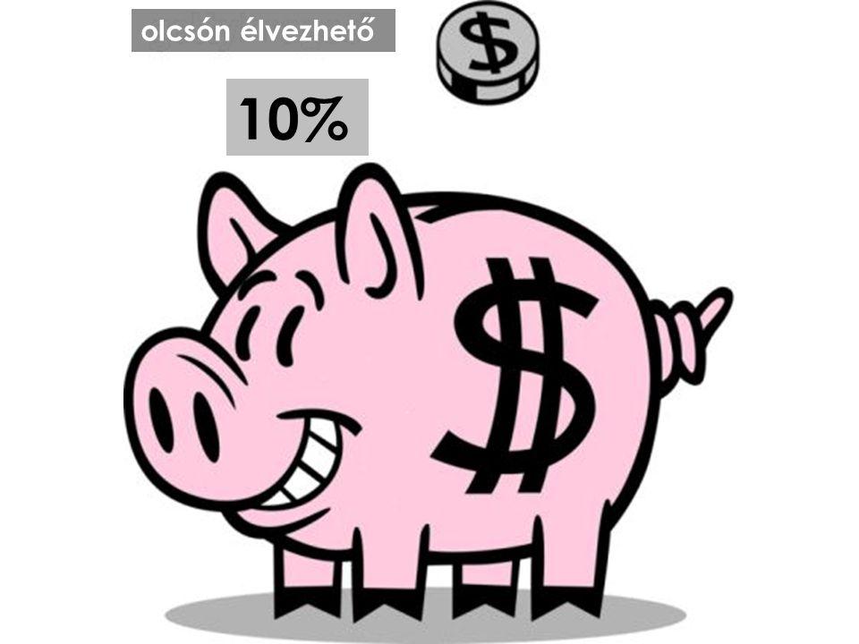 olcsón élvezhető 10%