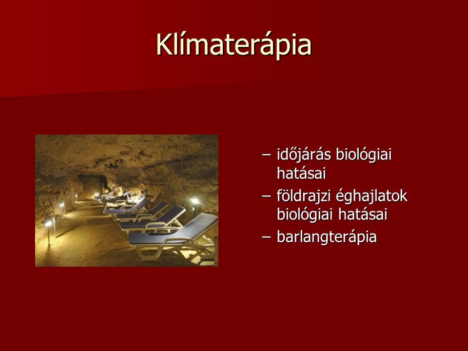 Klímaterápia időjárás biológiai hatásai