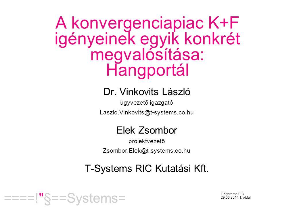 T-Systems RIC Kutatási Kft.