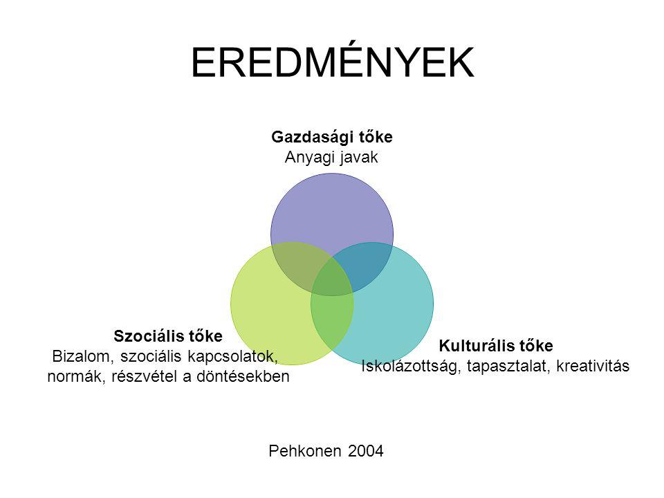 EREDMÉNYEK Pehkonen 2004