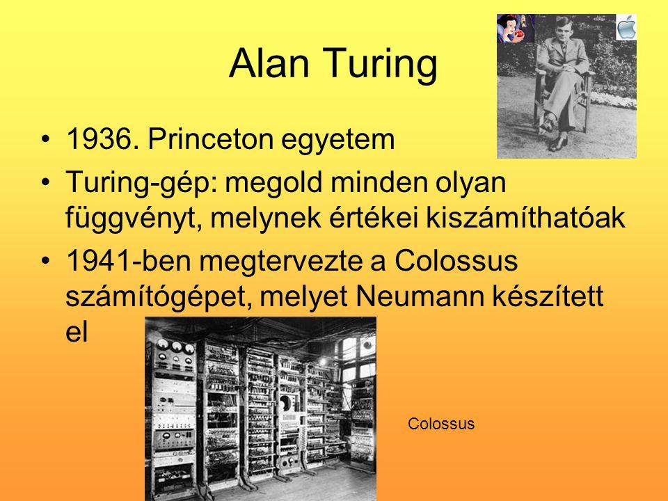 Alan Turing 1936. Princeton egyetem
