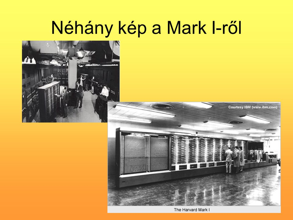Néhány kép a Mark I-ről