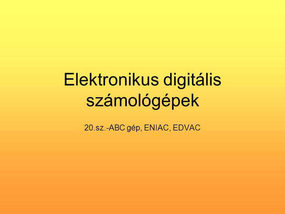 Elektronikus digitális számológépek