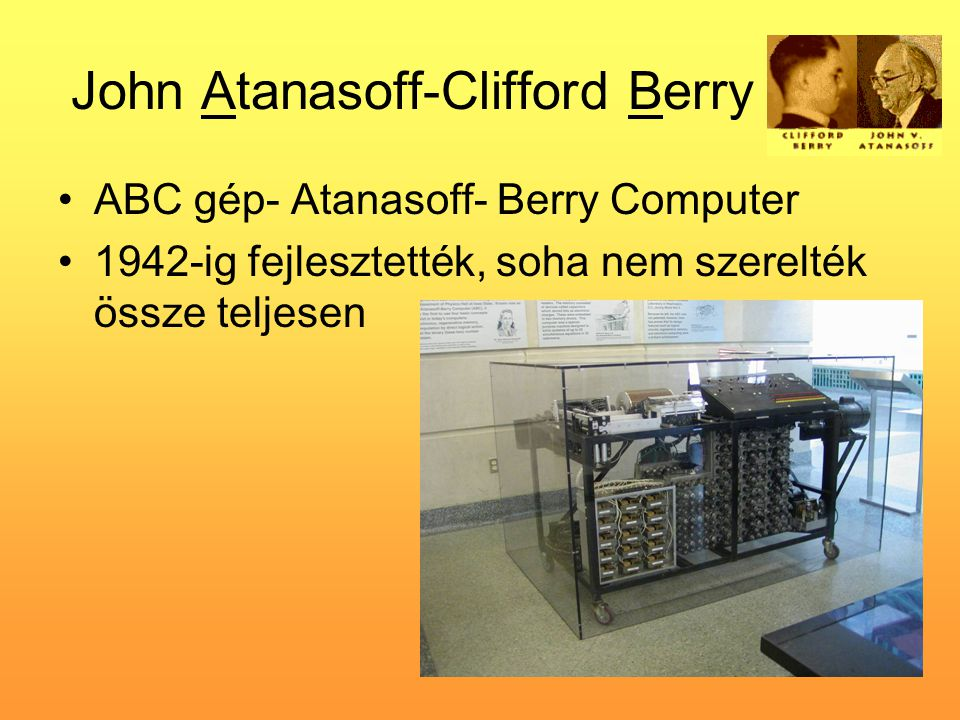John Atanasoff-Clifford Berry