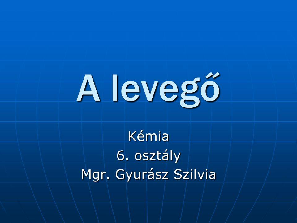 Kémia 6. osztály Mgr. Gyurász Szilvia