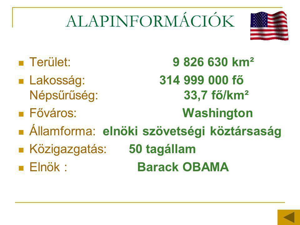 ALAPINFORMÁCIÓK Terület: 9 826 630 km²