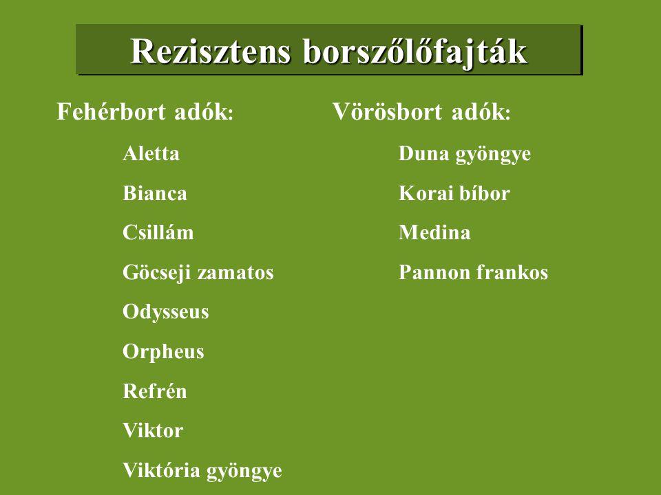 Rezisztens borszőlőfajták
