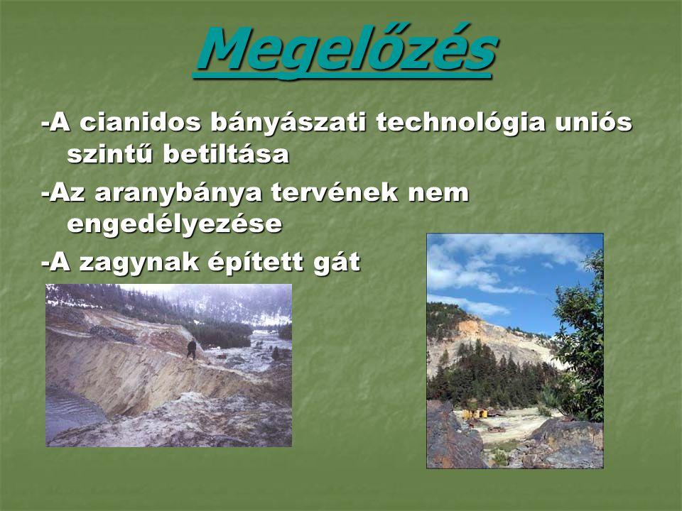 Megelőzés -A cianidos bányászati technológia uniós szintű betiltása