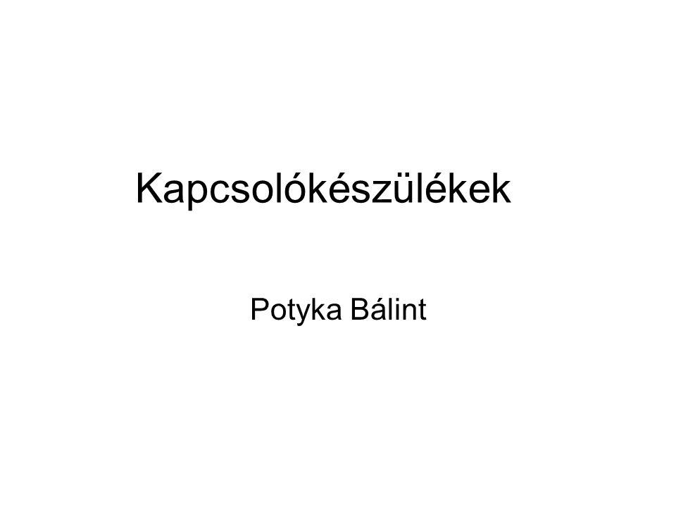 Kapcsolókészülékek Potyka Bálint