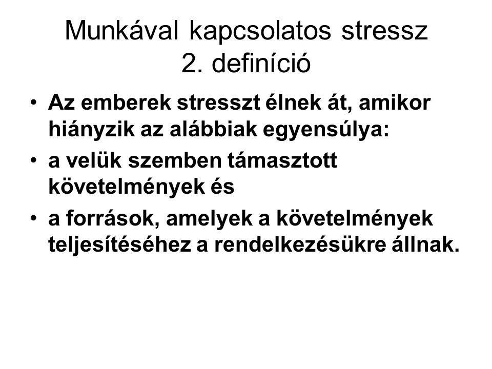 Munkával kapcsolatos stressz 2. definíció
