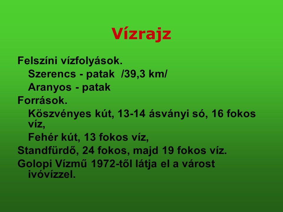Vízrajz Felszíni vízfolyások. Szerencs - patak /39,3 km/