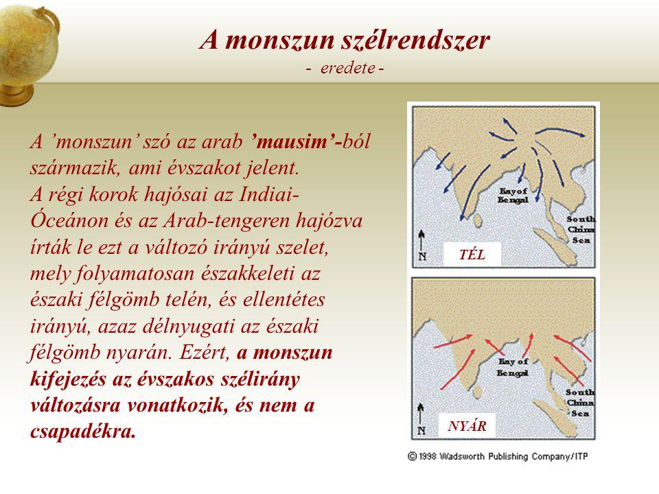 A monszun szélrendszer - eredete -