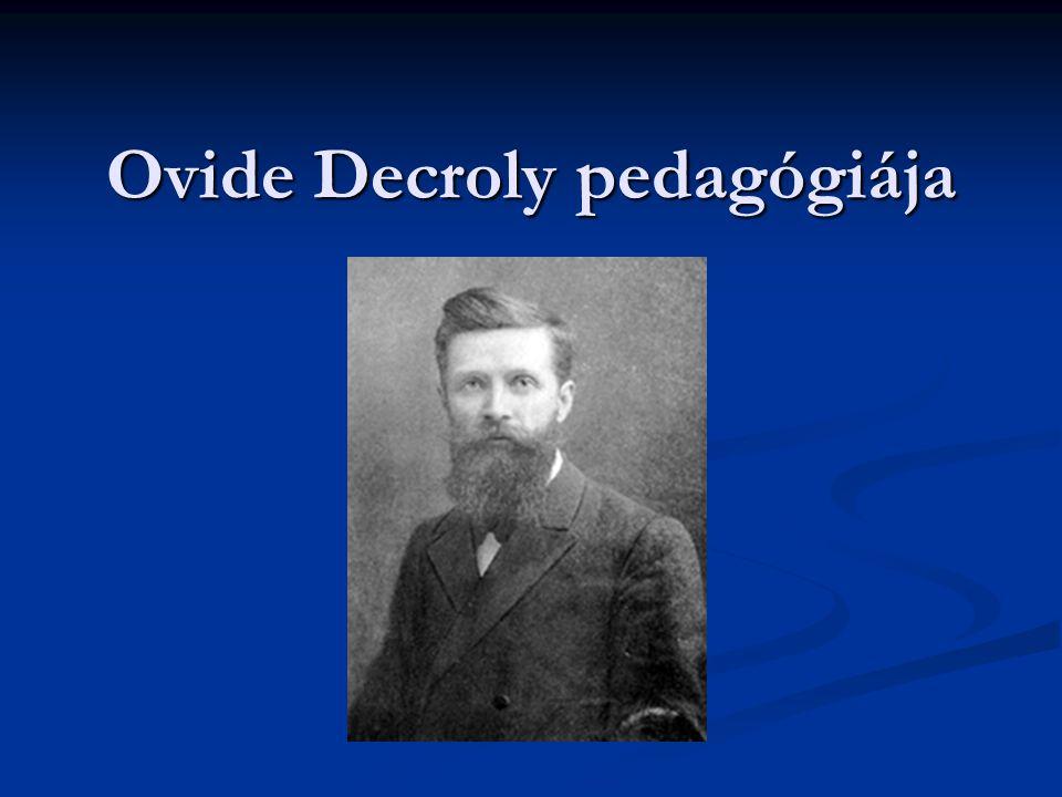 Ovide Decroly pedagógiája