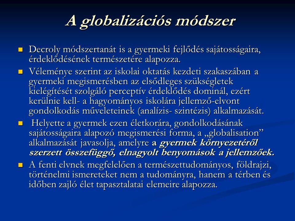 A globalizációs módszer