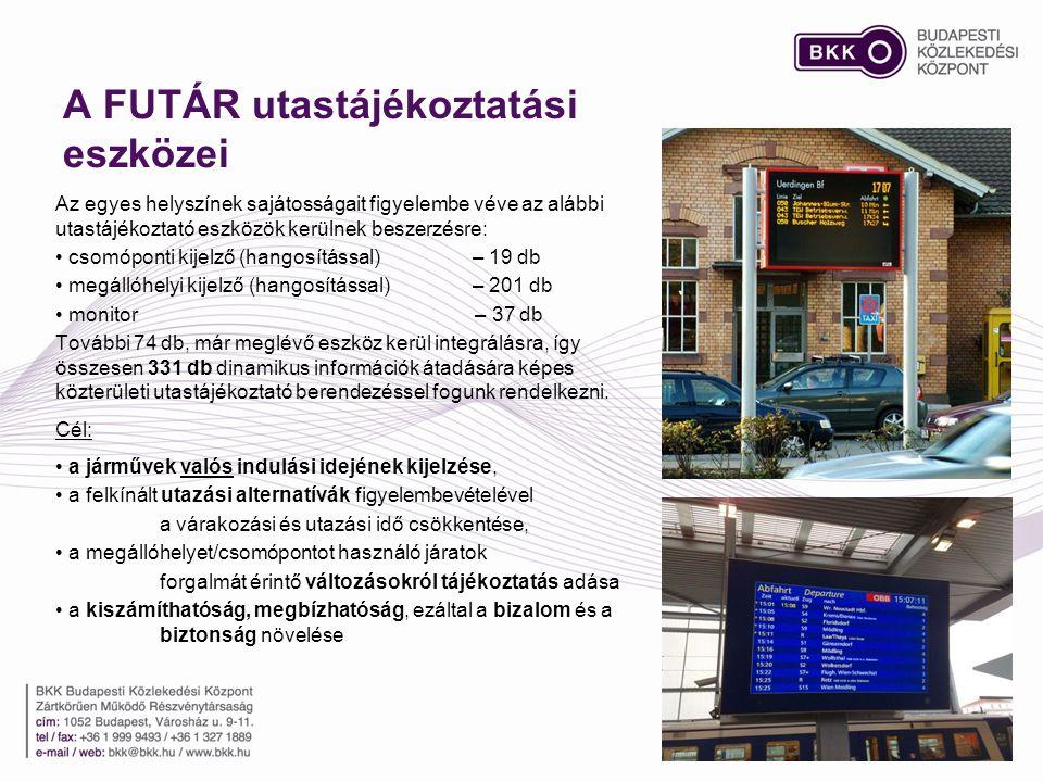 A FUTÁR utastájékoztatási eszközei