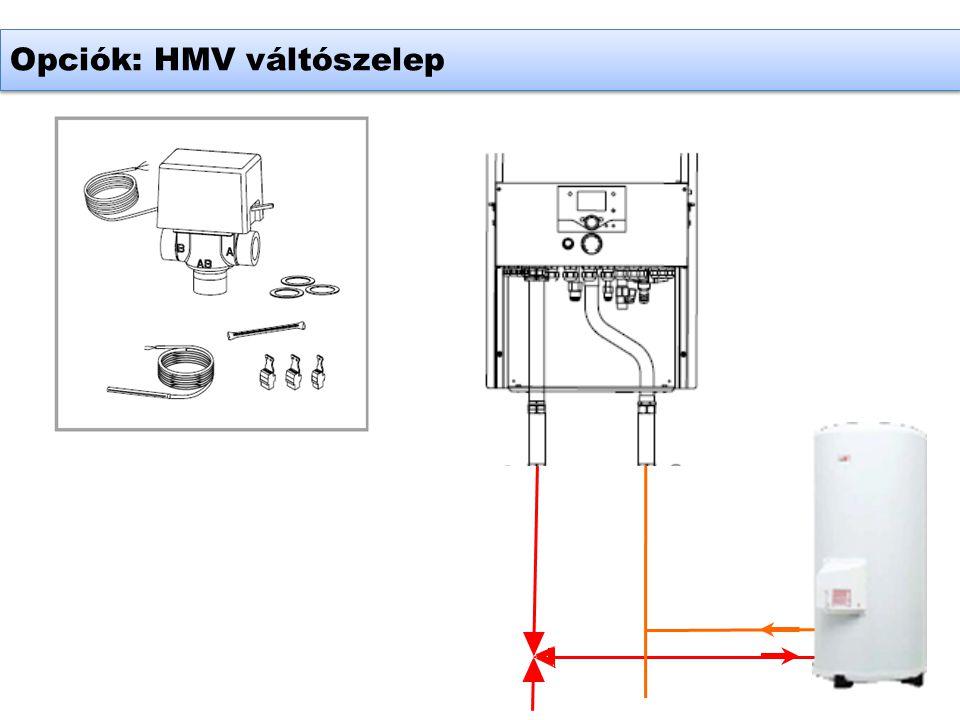 Opciók: HMV váltószelep