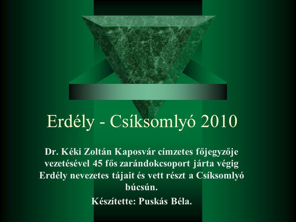 Készítette: Puskás Béla.
