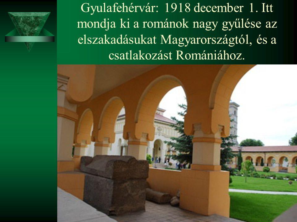 Gyulafehérvár: 1918 december 1
