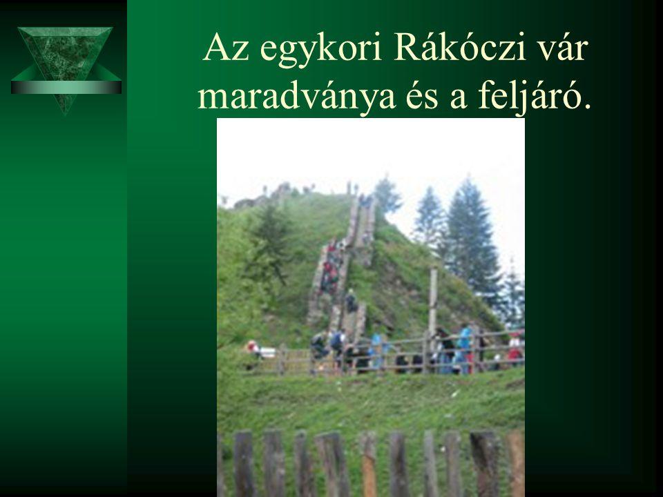 Az egykori Rákóczi vár maradványa és a feljáró.