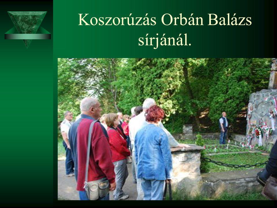 Koszorúzás Orbán Balázs sírjánál.