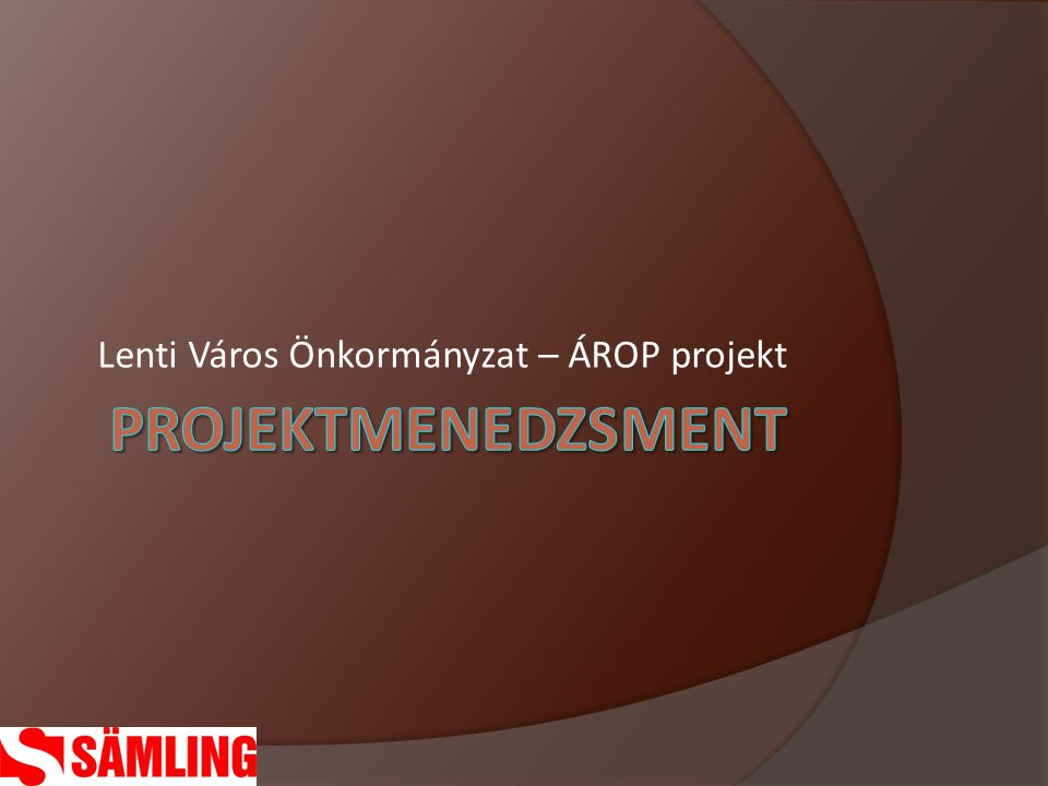 Lenti Város Önkormányzat – ÁROP projekt