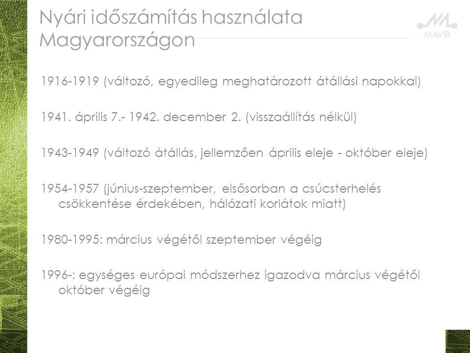 Nyári időszámítás használata Magyarországon