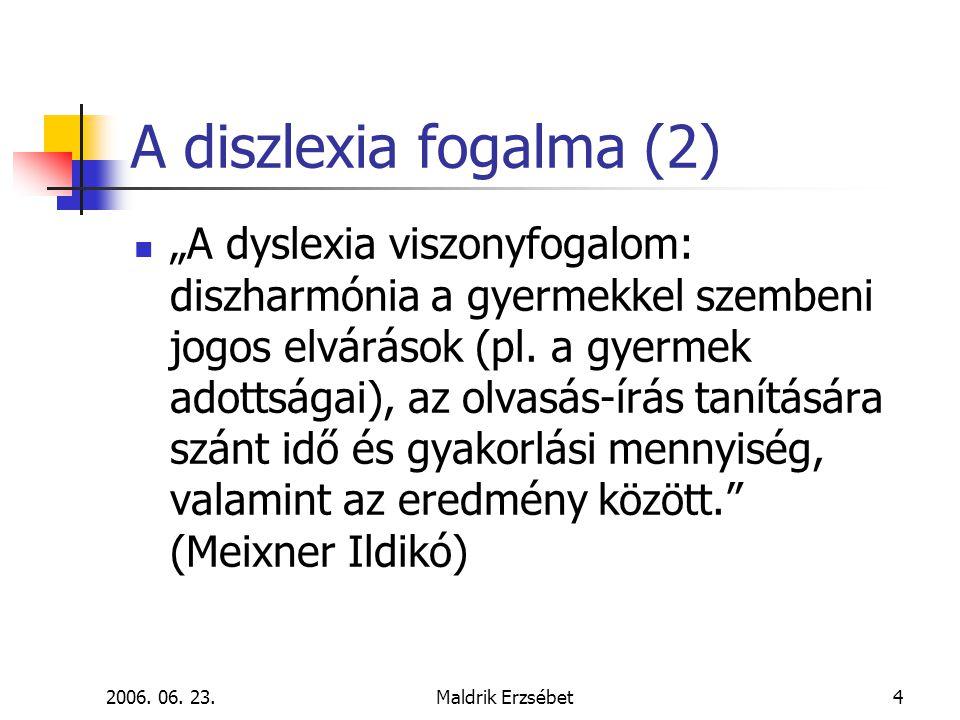 A diszlexia fogalma (2)