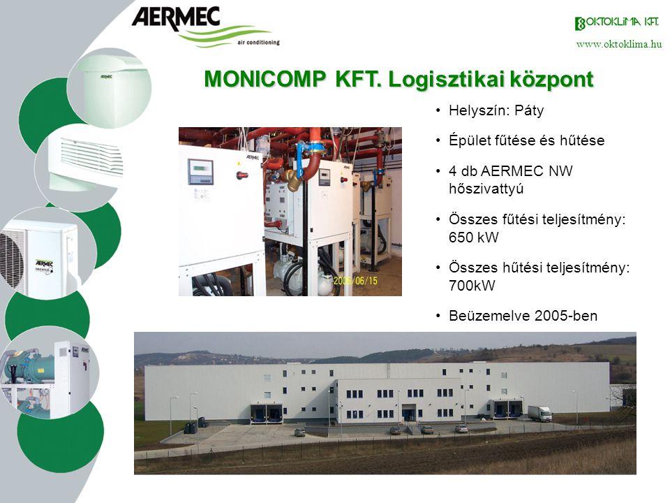 MONICOMP KFT. Logisztikai központ