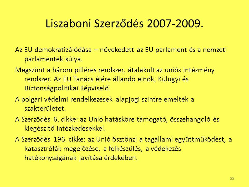 Liszaboni Szerződés 2007-2009.