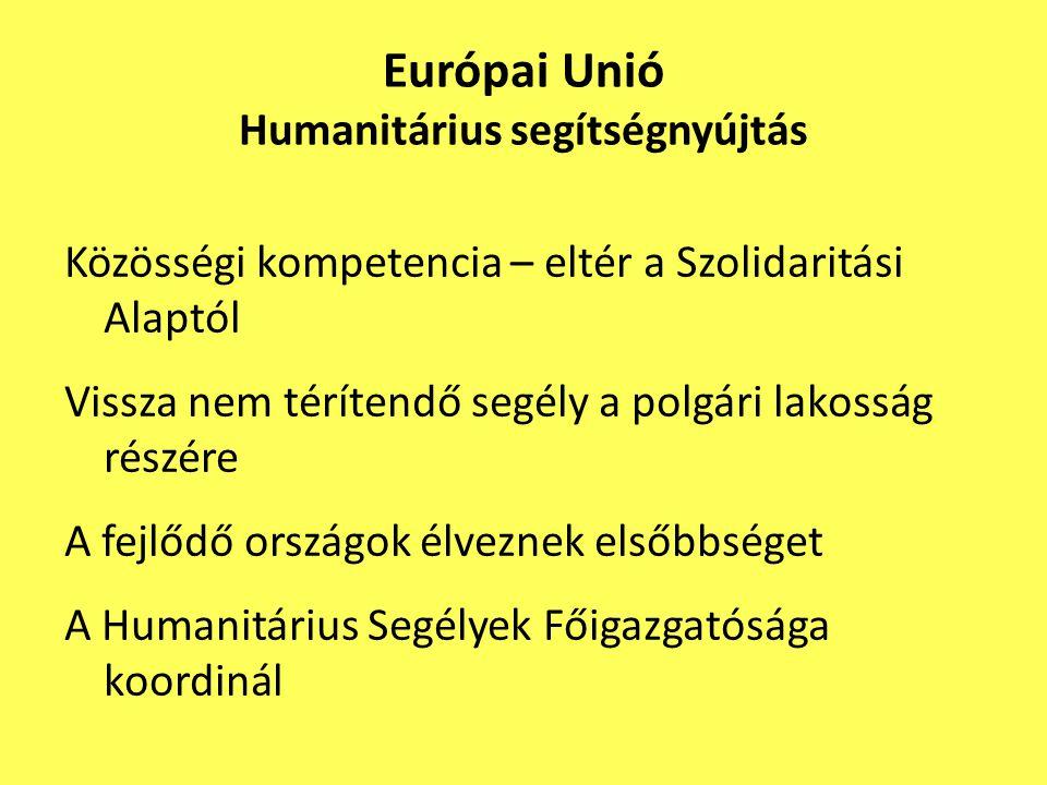 Európai Unió Humanitárius segítségnyújtás