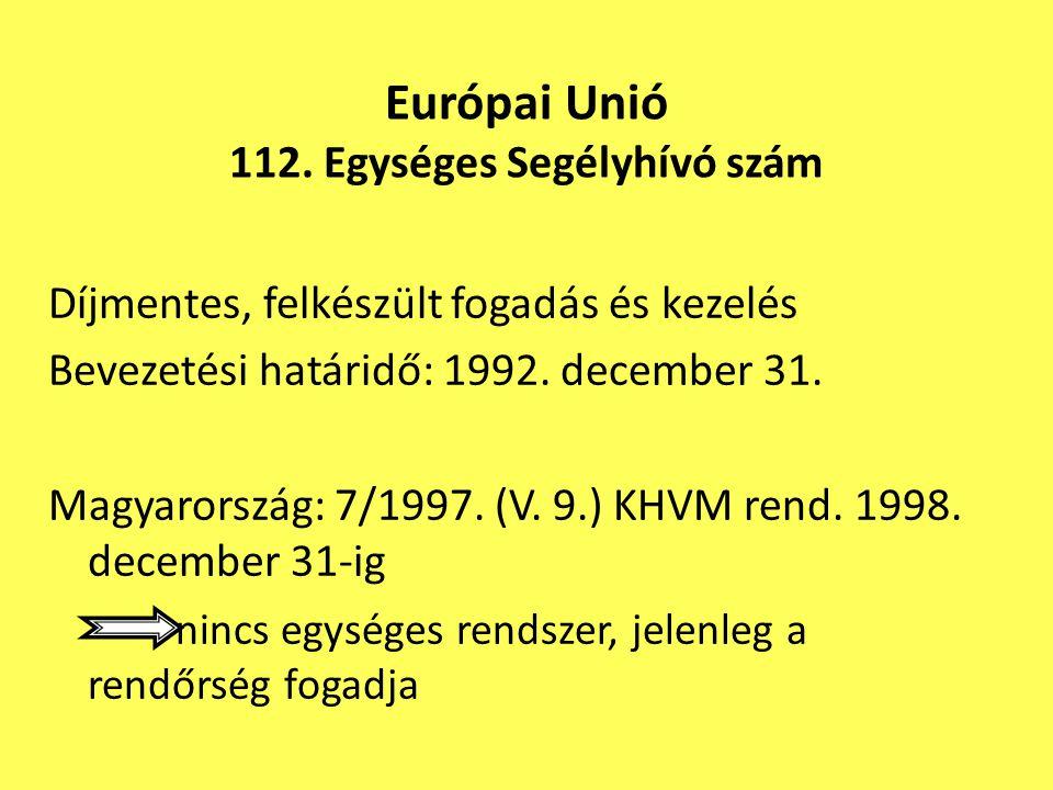 Európai Unió 112. Egységes Segélyhívó szám