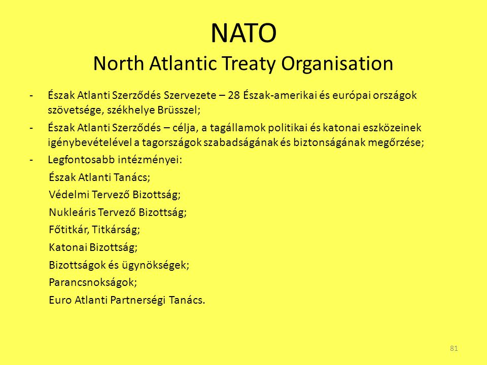 NATO North Atlantic Treaty Organisation