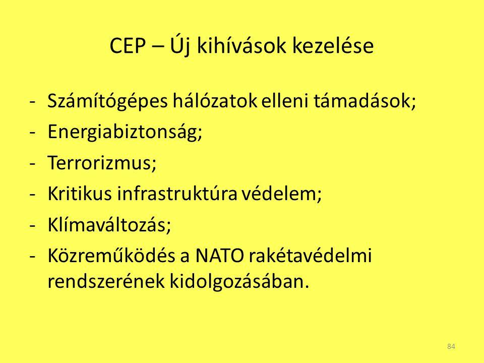 CEP – Új kihívások kezelése