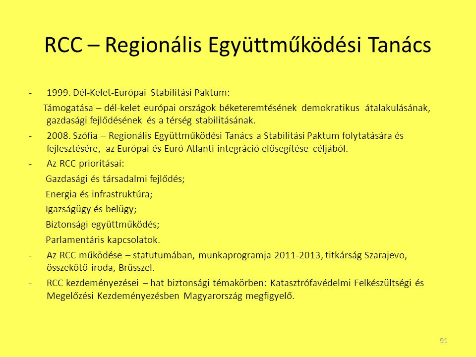 RCC – Regionális Együttműködési Tanács