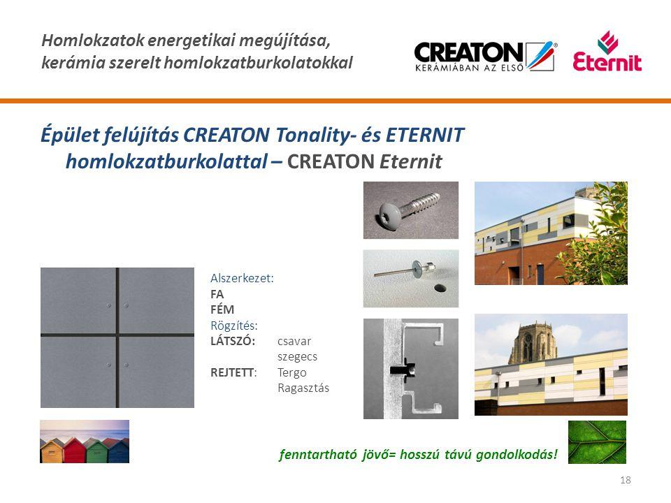 Épület felújítás CREATON Tonality- és ETERNIT homlokzatburkolattal – CREATON Eternit