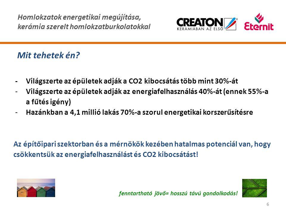 Mit tehetek én - Világszerte az épületek adják a CO2 kibocsátás több mint 30%-át.