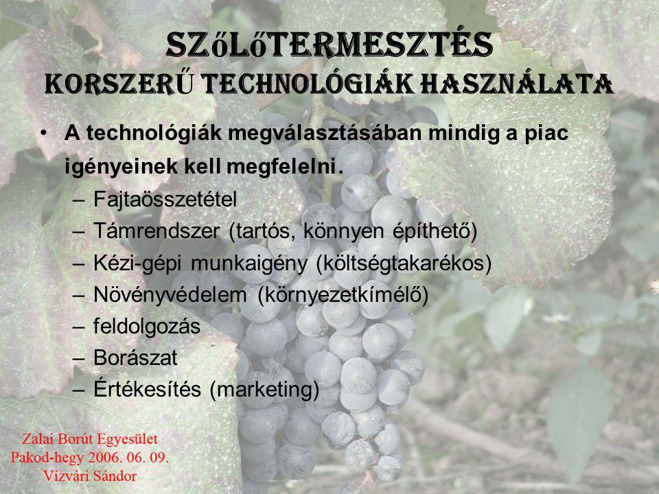 Szőlőtermesztés KorszerŰ technológiák használata