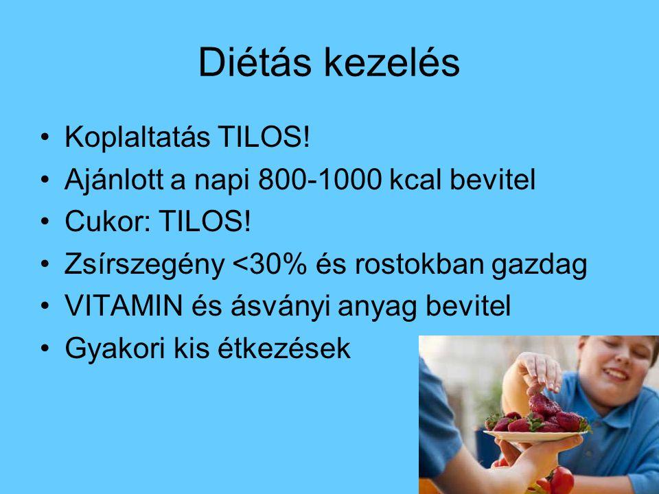 Diétás kezelés Koplaltatás TILOS!