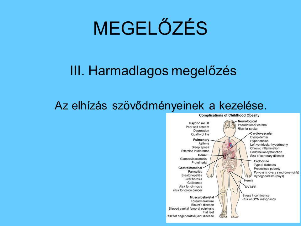 MEGELŐZÉS III. Harmadlagos megelőzés