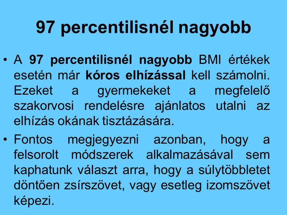 97 percentilisnél nagyobb