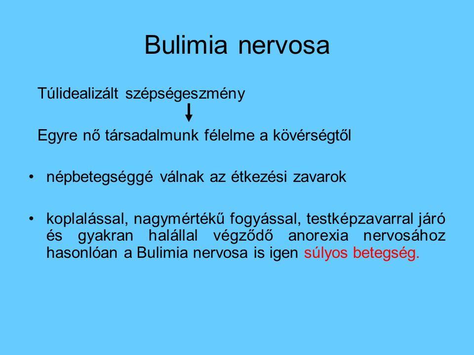 Bulimia nervosa Túlidealizált szépségeszmény