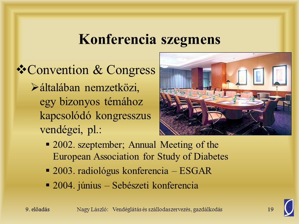 Konferencia szegmens Convention & Congress