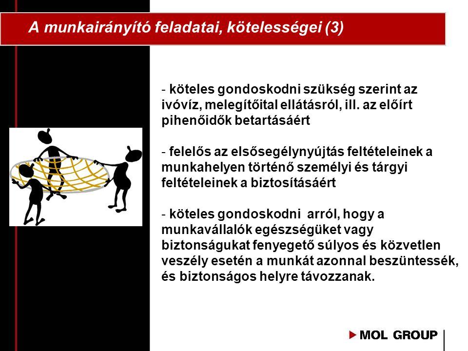 A munkairányító feladatai, kötelességei (3)