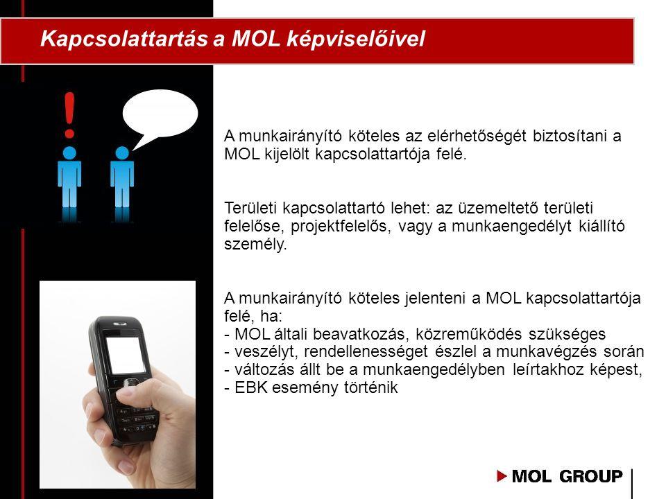 Kapcsolattartás a MOL képviselőivel